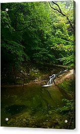 Gyeryongsan Stream And Pool Acrylic Print