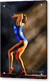 Gymnast In The Light Acrylic Print