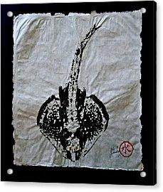 Gyotaku - Skate - Stingray  Acrylic Print