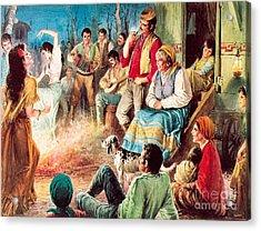 Gypsies Partying Acrylic Print by English School