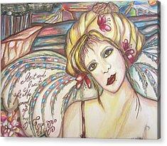 Gypsy Angel Acrylic Print