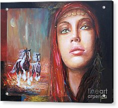 Gypsy Beauty Acrylic Print