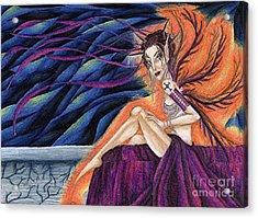 Gypsy Eyes Acrylic Print by Coriander  Shea
