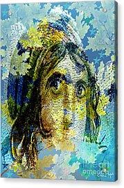 Gypsy Girl Mosaic Acrylic Print