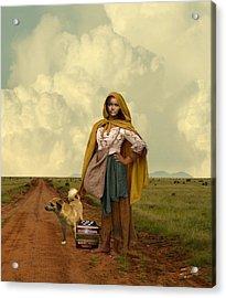Gypsy Girl's Dream Acrylic Print by Schwartz