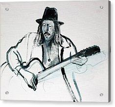 Gypsy Guitarist Acrylic Print by Asha Carolyn Young