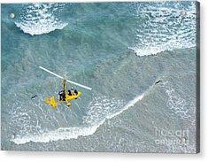 Gyrocopter In Flight Acrylic Print