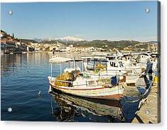 Gytheion Harbour Acrylic Print