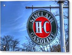 H-c Sinclair Gasoline Acrylic Print by David Simons