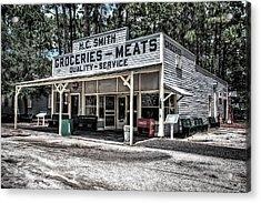 H C Smith's Groceries Heritage Village Acrylic Print