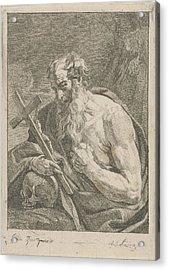 H. Jerome With A Crucifix, Francois Joseph Lonsing Acrylic Print by Artokoloro