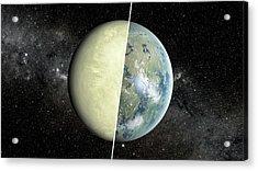 Habitable Vs Non-habitable Zone Planet Acrylic Print by Nasa/jpl-caltech/ames