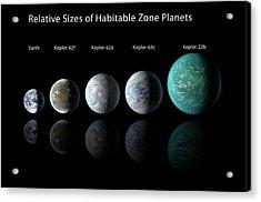 Habitable Zone Planets Acrylic Print by Nasa/ames/jpl-caltech