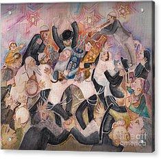 Hachnasat Sefer Torah 1 Acrylic Print by Chana Helen Rosenberg
