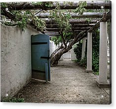 Acrylic Print featuring the photograph Hacienda Courtyard by Kandy Hurley