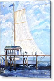 Hackney's Sailboat Acrylic Print