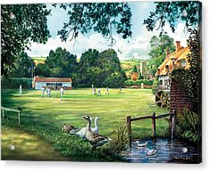 Hadlow Cricket Club Acrylic Print by Steve Crisp