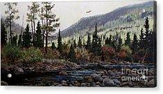 Hagerman Peak Acrylic Print by W  Scott Fenton