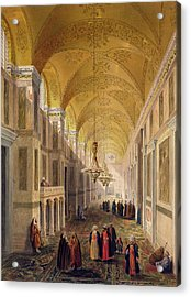 Haghia Sophia, Plate 2 The Narthex Acrylic Print by Gaspard Fossati