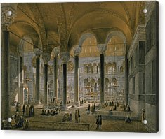 Haghia Sophia, Plate 6 The North Nave Acrylic Print by Gaspard Fossati