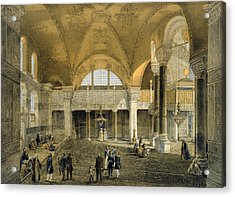 Haghia Sophia, Plate 9 The New Imperial Acrylic Print by Gaspard Fossati