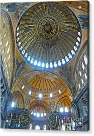 Acrylic Print featuring the photograph Hagia Sophia 1 - Istanbul by Cheryl Del Toro
