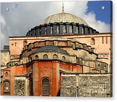 Hagia Sophia Ayasofya Meydani Byzantine Basilica Later Imperial Mosque Istanbul Turkey Acrylic Print by Ralph A  Ledergerber-Photography