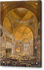Hagia Sophia, Constantinople, 1852 Acrylic Print by Gaspard Fossati