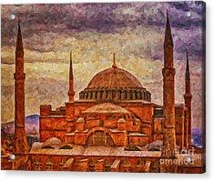 Hagia Sophia Digital Painting Acrylic Print