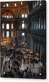 Hagia Sophia Panorama Acrylic Print by Jacqueline M Lewis