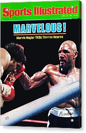 Hagler Vs Hearns Acrylic Print