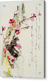 Acrylic Print featuring the painting Haiga My Spring Too Is An Ecstasy by Peter v Quenter