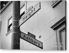 Haight And Ashbury Acrylic Print