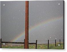 Hail And Rainbow Acrylic Print