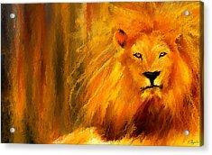 Hail The King Acrylic Print by Lourry Legarde