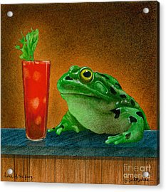 Hair Of The Frog... Acrylic Print by Will Bullas