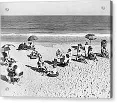 Hair Salon On The Beach Acrylic Print by Underwood Archives