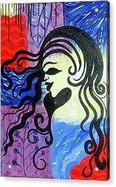 Hair Silhouette Acrylic Print
