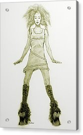 Hairy Boots Acrylic Print
