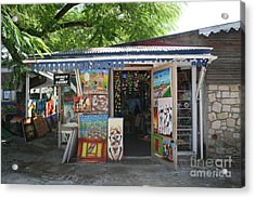Acrylic Print featuring the photograph Haitian Art Shack by The Art of Alice Terrill