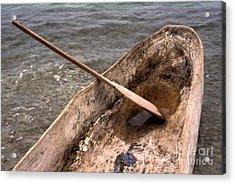 Haitian Dugout Canoe Acrylic Print by Anna Lisa Yoder