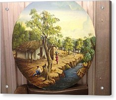 Haitian Landscape Acrylic Print
