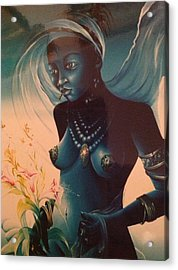 Haitian Woman Acrylic Print