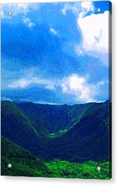 Halawa Valley Acrylic Print by James Temple
