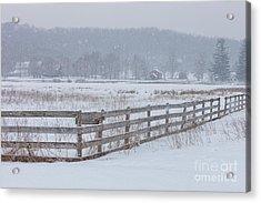 Hale Farm At Winter Acrylic Print by Joshua Clark