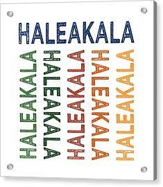 Haleakala Cute Colorful Acrylic Print