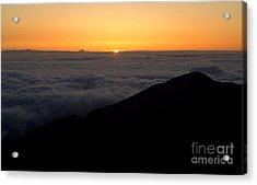 Haleakala Sunrise Acrylic Print by Benjamin Reed