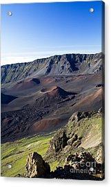 Haleakala Sunrise On The Summit Maui Hawaii - Kalahaku Overlook Acrylic Print by Sharon Mau