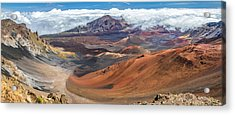 Haleakala Volcano On Maui Hawaii Acrylic Print by Pierre Leclerc Photography