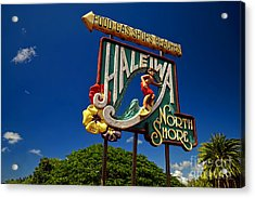 Haleiwa Sign On The North Shore Of Oahu Acrylic Print